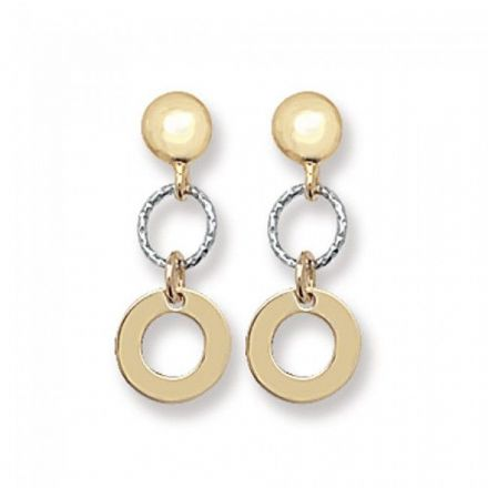 Just Gold Earrings -9Ct Drop Earrings, ES341